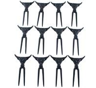 Conjunto Garfos Black Para Petisco 12 peças